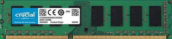 Memoria RAM Crucial 4GB DDR3L-1600 UDIMM - CT51264BD160BJ