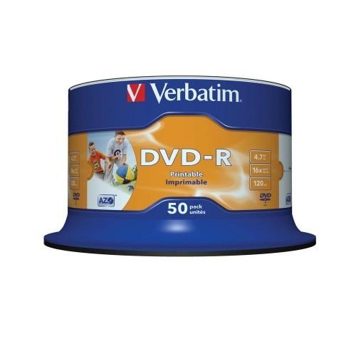 DVD Verbatim DVD-R 16x Speed 4,7GB Confezione da 50pz