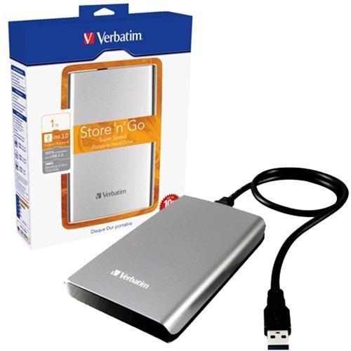 HDD Esterno Verbatim Store N Go 1TB Grigio