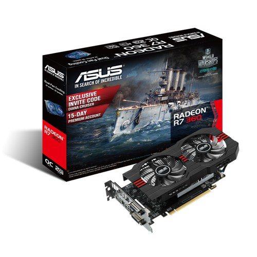 Scheda video VGA ASUS AMD Radeon R7360-OC-2GD5-V2