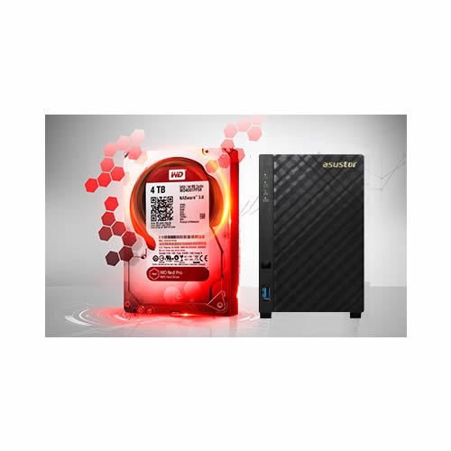 Bundle Storage Asustor NAS e WD RED 2TB