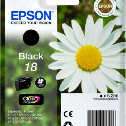 Epson Claria Home Ink 18 Nero C13T18014020
