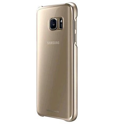Clear Cover Samsung Galaxy S7 Gold