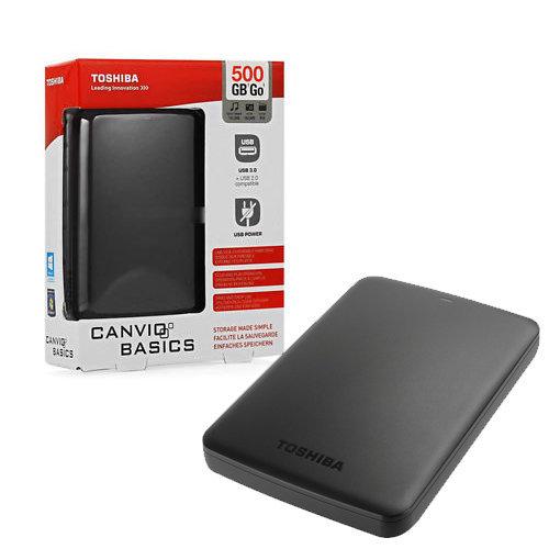 HDD Esterno Toshiba Canvio Basics 500GB Nero