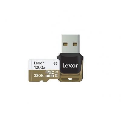 Flash Memory Card Lexar Professional 1000x 32GB micro SDHC