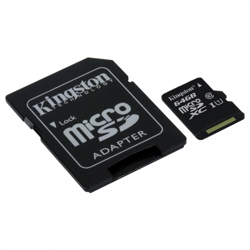 Kingston microSDXC UHS-I 64Gb con adattatore SD SDC10G2/64GB