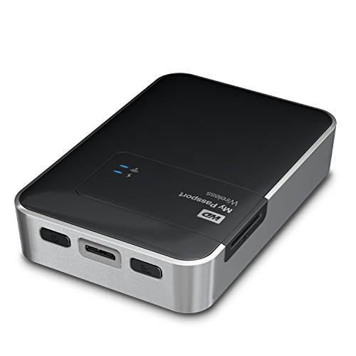 Hard Disk Esterno WD My Passport Wireless 2TB WDBDAF0020BBK-EESN